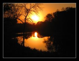 2984 Sunset on the Souris River by CitizenOlek
