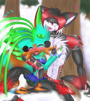 Commission: Winter kisses by chrissantheum by DarkFoxProjectX