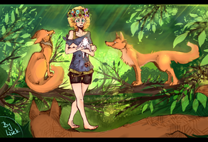 Foxes Forest by Lyitsifa