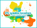 Splatter Brushes by roorah