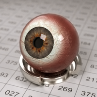 Luxrender Eyeball test by Vampyric-Saiyaness