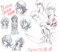 Bleach sketchdump by Akadafeathers