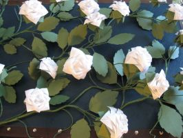 Origami Roses close up by nightmary