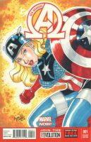New Avengers #1 - Lady Captain America (2013) by amanojyaku