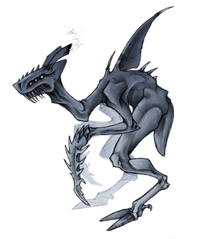 Land Shark Ghoul Thing by Delta-Hexagon