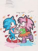 sonamy:classic love ::amy-cute:: by shadowninja3