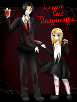 lenore and ragamuffin by xkitten-kitty