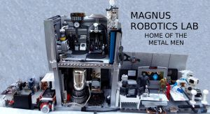 Magnus Robotics Lab Metal Men Diorama by skphile