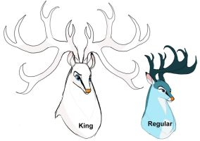 King and Regular Swan Bucks by dyb