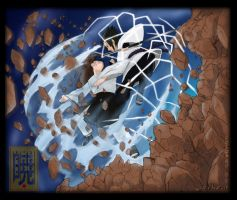 Neji vs Sasuke Colored by IcEKoLd