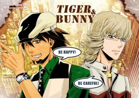 TIGER and BUNNY Poster by kingsindigo