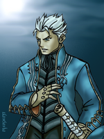 Vergil Under The Moon by Rekkiem