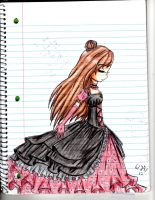Something pretty on lined paper by SunflowerJuice