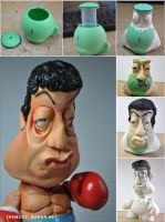 Making of Rocky Munny by artmik