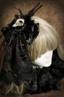 Decayed Crow Head Piece by Necrosarium