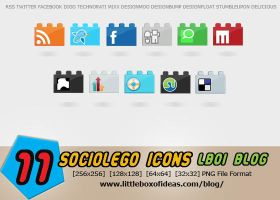 SocioLEGO Lego Social Icon Set by littleboxofideas