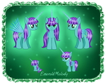 Emerald Melody reference by AshlyStorm