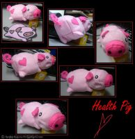Health Pig plushie by Amita-Eppes