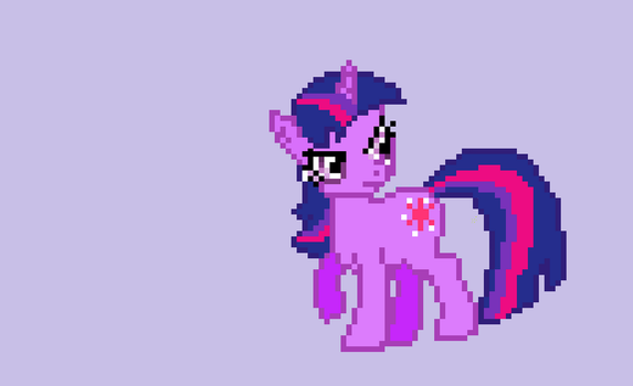 Twilight sparkle pixel art by IzzyTwelve