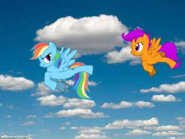 Rainbow Dash and Scootaloo by Xiane2003