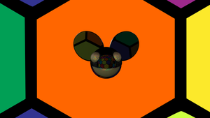 Deadmau5 Wallpaper Hexagon Party 3D Logo Maya BMP by Bohnenstein