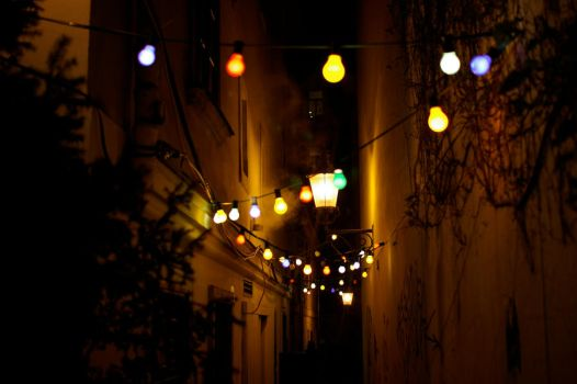 Fairy Lights at the Street by bix1981