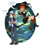 Mystery Guy and Witch by Mother-of-Trolls