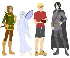 C and C Character LineUp Color by DoomGirlMeg