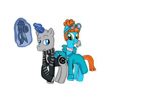 Gru and Lucy (Despicable Me 2 MLP) by DanielaEspinoza19