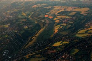 Rural London from a Plane by tamigabriely