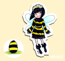 Bumble Bee Girl for delightfully-sunny by tea-bug