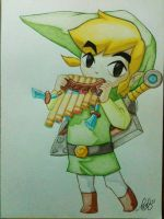 Link ~ The Legend of Zelda: Spirit Tracks by haritte