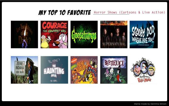 My Top 10 Favorite Horror Shows by Spuriousones13