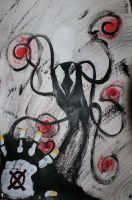 Slender man painting by toxic-mist