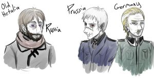 Old Hetalia: Russia Prussia Germany by SOTDcorp