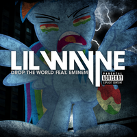 Lil Wayne / Eminem - Drop the World (Rainbow Dash) by AdrianImpalaMata