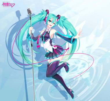 My old miku re-design by HananueAoko