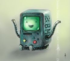 Beemo from Adventure Time by Elindiriel