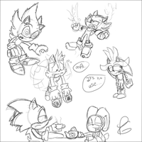 Sonic Doodles by Weevmo