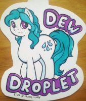 Dew Droplet Pony Badge Commission by Sparkle-And-Sunshine