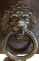 Bronze Lion Door Knocker by FantasyStock