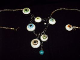 Eyeball Necklace by Y0uB3l0ng