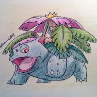 Mega Venusaur by ArtzxGeek