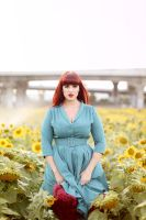 Teer in the sunflowers by KatherineDavis