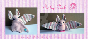 Baby Pink Bat Plush by WolfPink
