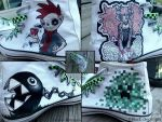 My handpainted shoes by black-chips