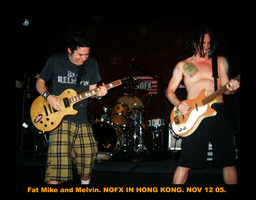 NOFX: Fat Mike and Melvin by idecay