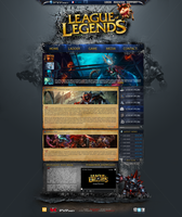 League Of Legend : Website by Abzo