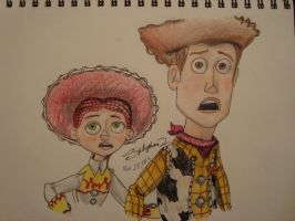 Woody and Jessie Toy Story of Terror by spidyphan2
