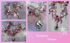 Unicorn cluster charm bracelet. by Idlewings